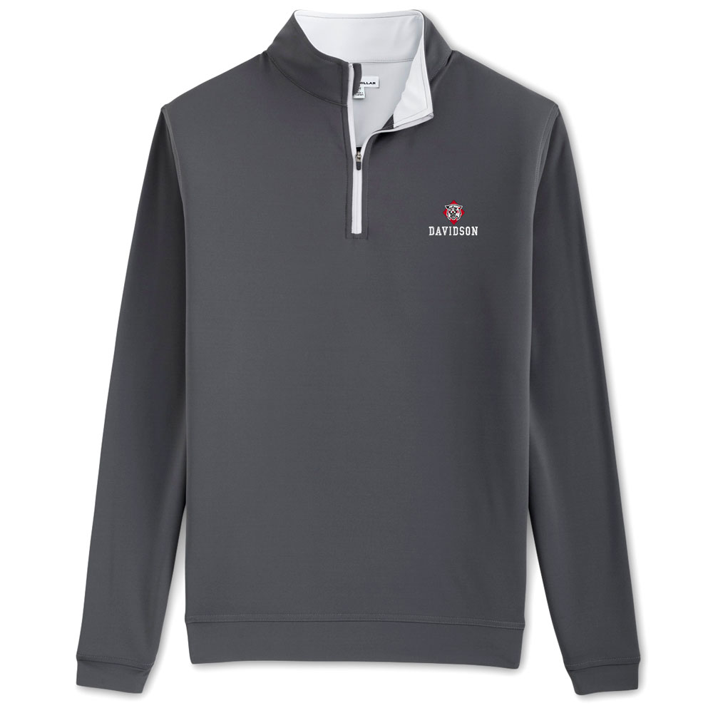 Image For Quarter Zip - Grey - Perth Stretch - Wildcat Over Davidson