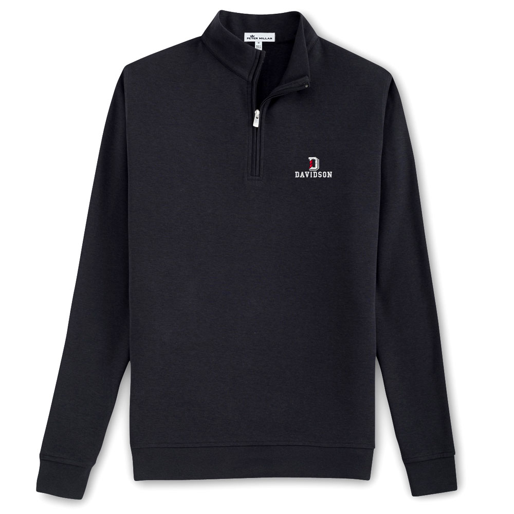 Image For Quarter Zip- Black - Crown Comfort - D Over Davidson