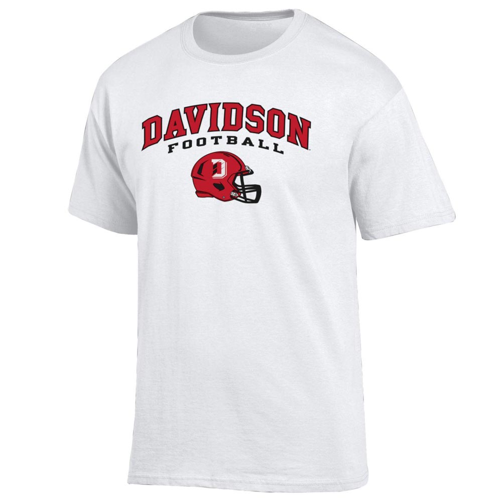 Image For T Shirt White-Davidson Over Football