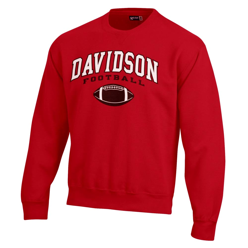 Image For Sweatshirt Crew Red-Davidson Over Football