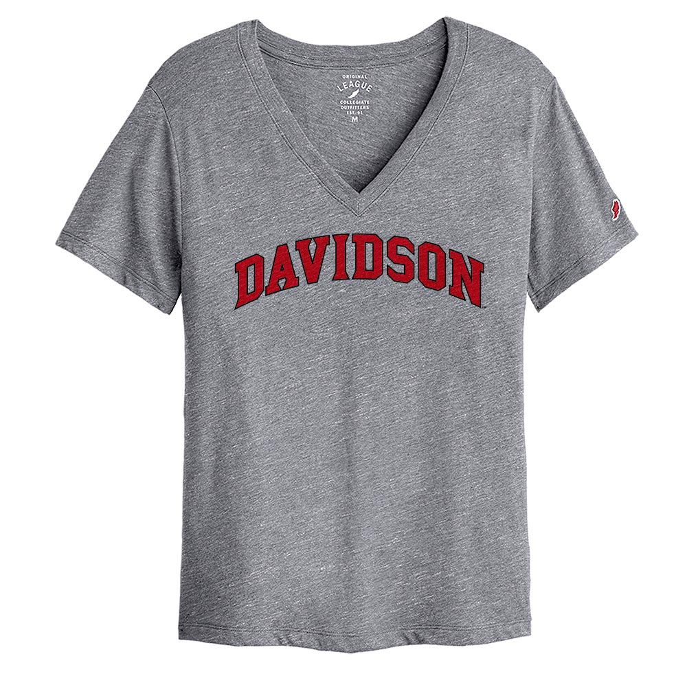 Cover Image For Women's V Neck Tee - Falls Heather - Davidson Arched