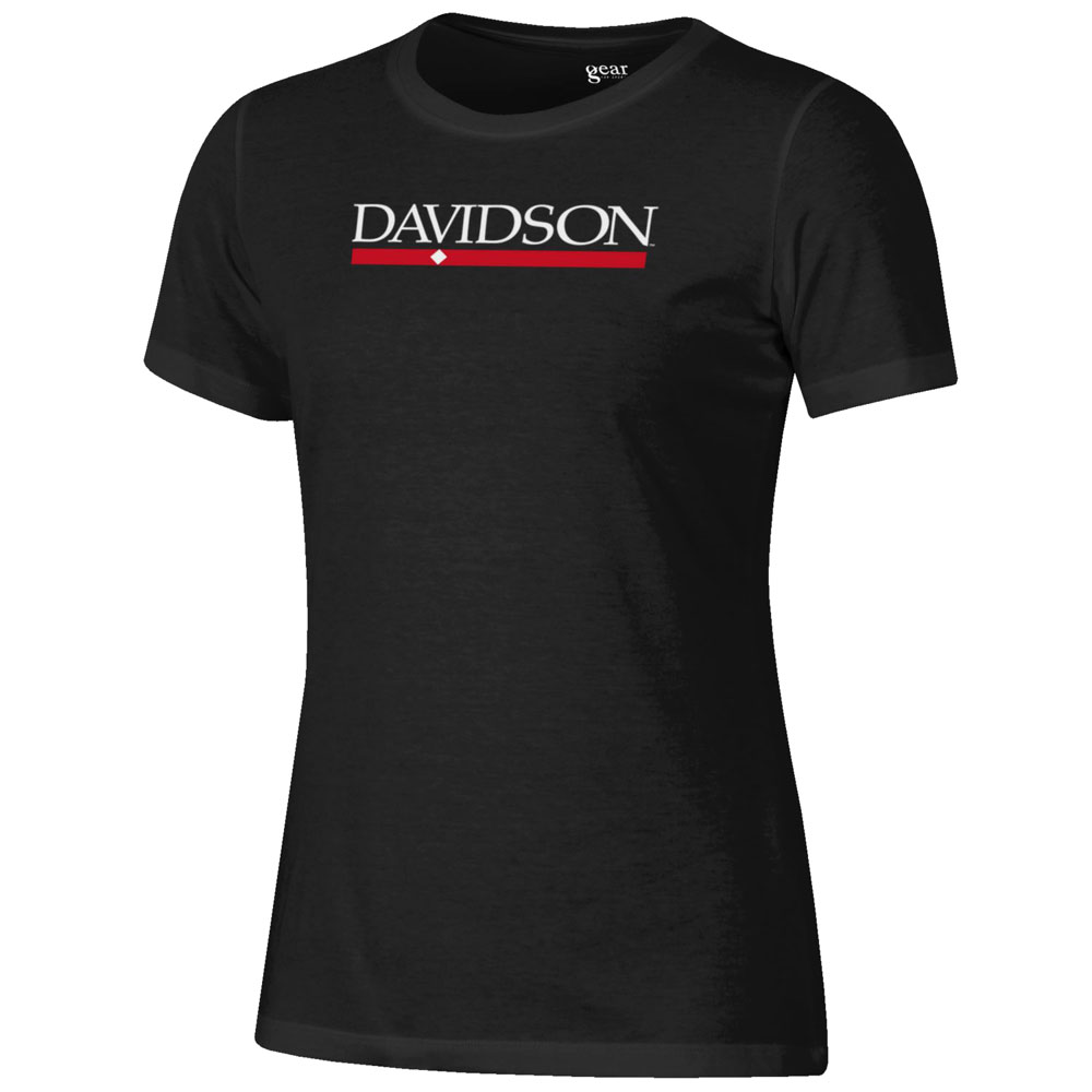 Cover Image For Womens Relaxed T Shirt Black Bar Diamond