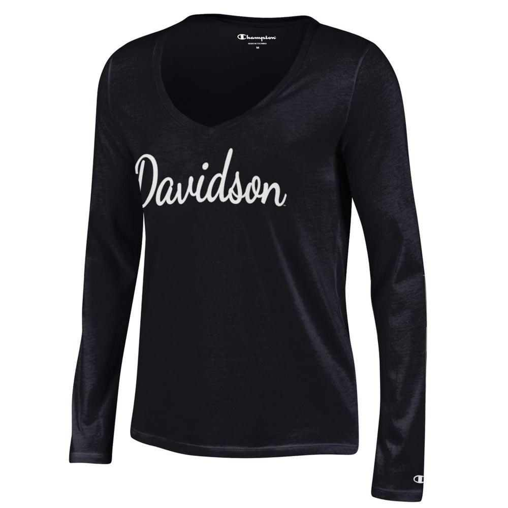596027ea Image For Women's Long Sleeve Tee - Black - Davidson