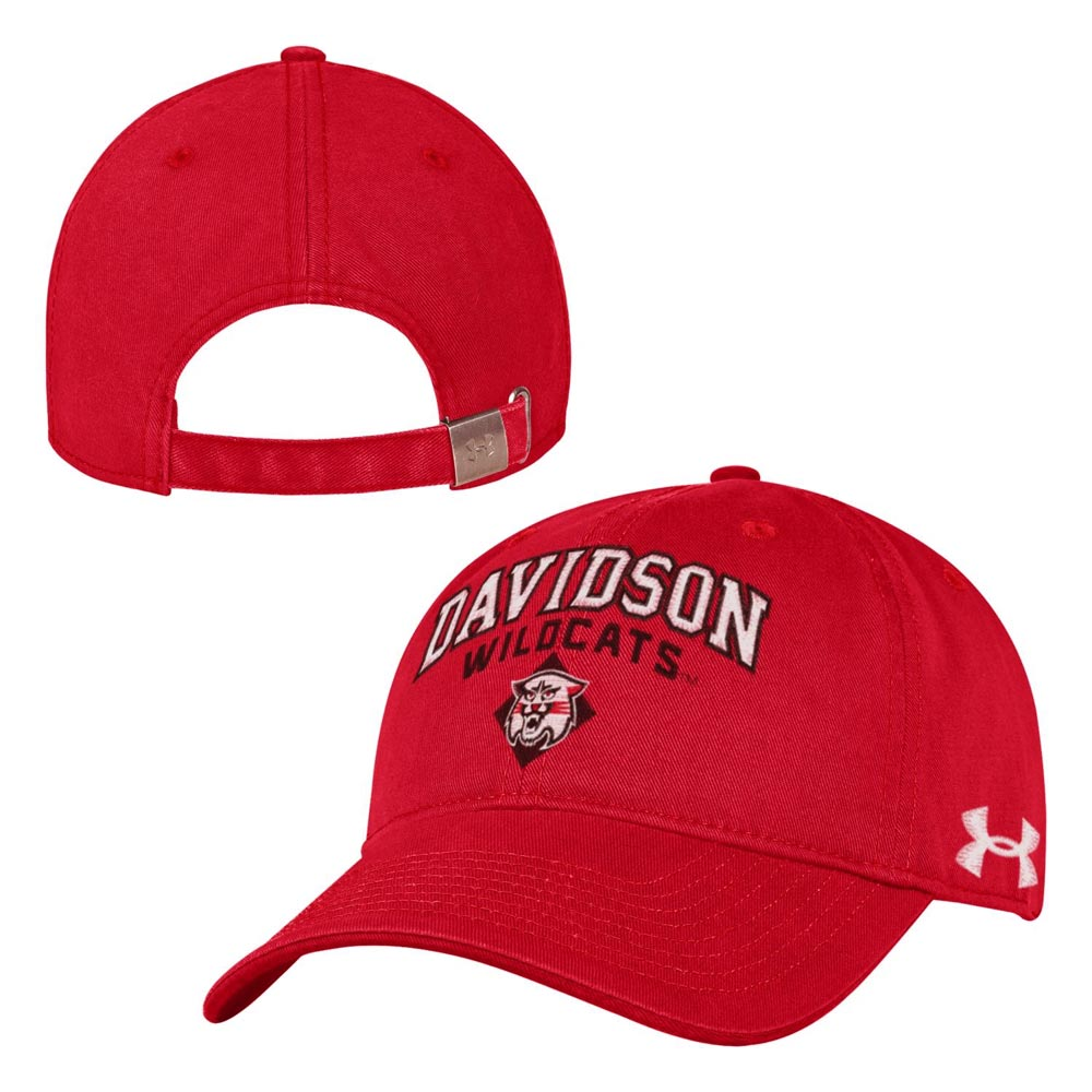 Cover Image For Adjustable Cotton Twill Hat -Red-Davidson Over Wildcat