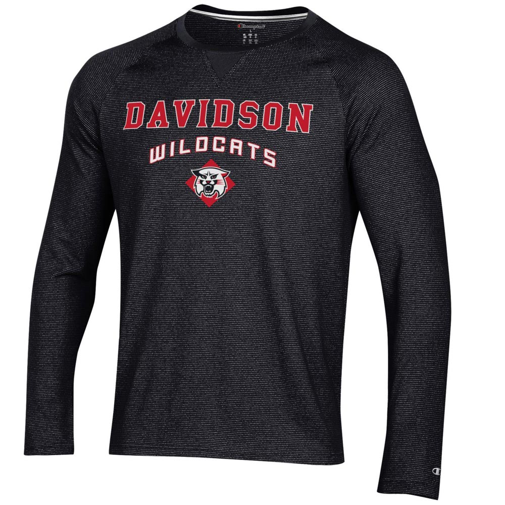 Cover Image For Long Sleeve T Shirt  - Black -  Davidson Over Wildcat
