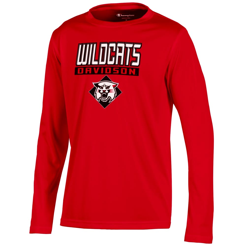 Cover Image For Youth Athletic T Shirt - Red - Wildcats Over Davidson