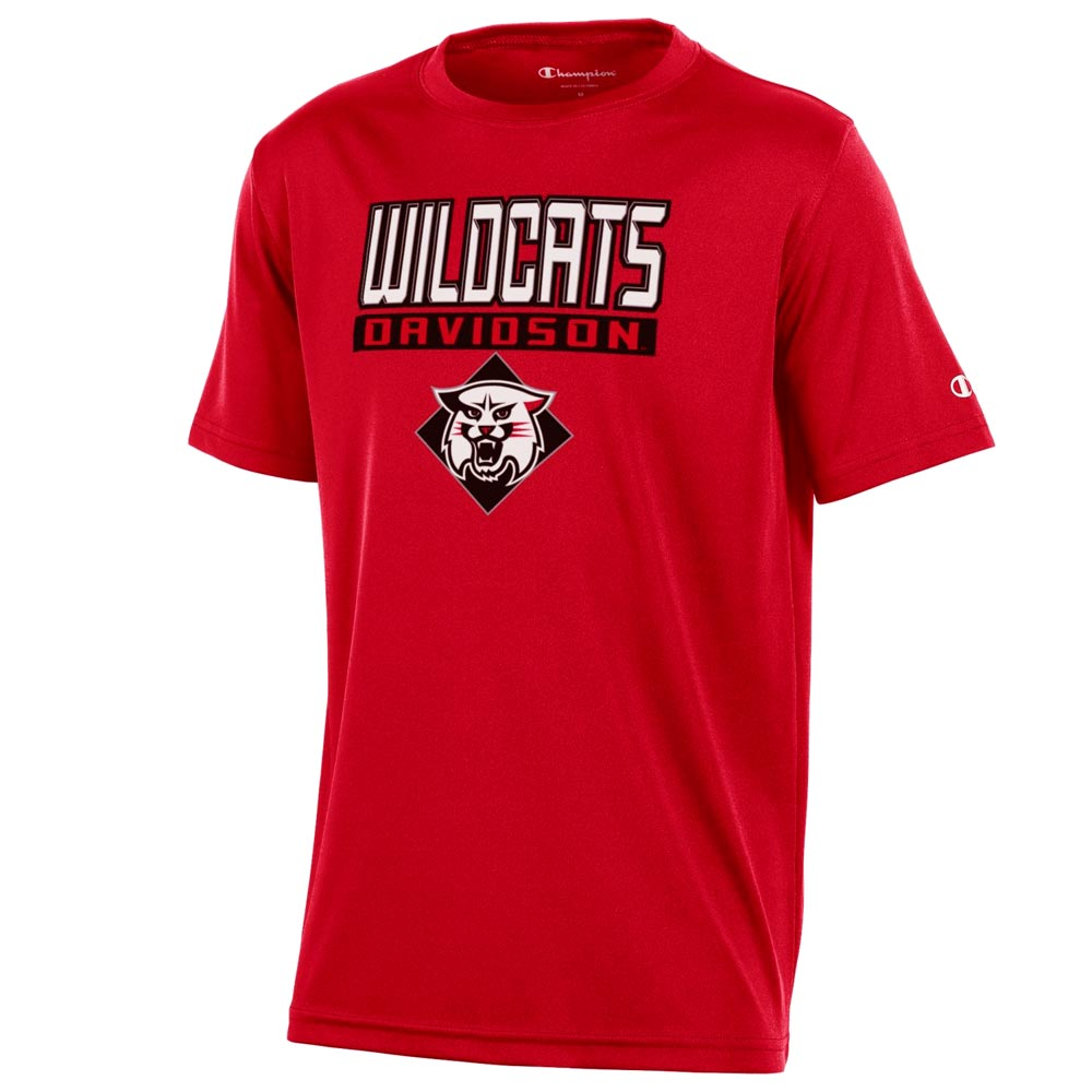 Image For Youth Athletic T Shirt - Red - Wildcats Over Davidson