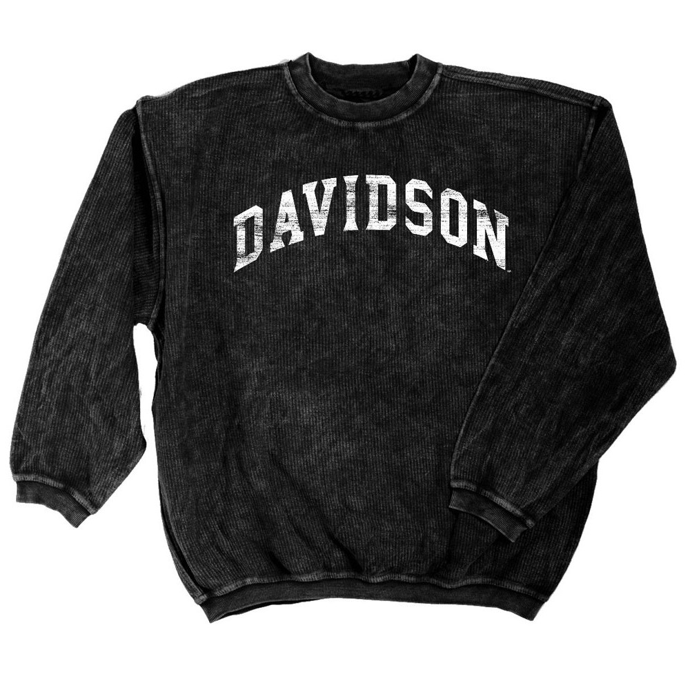Image For Women's Corded Crew - Black - Davidson Arched