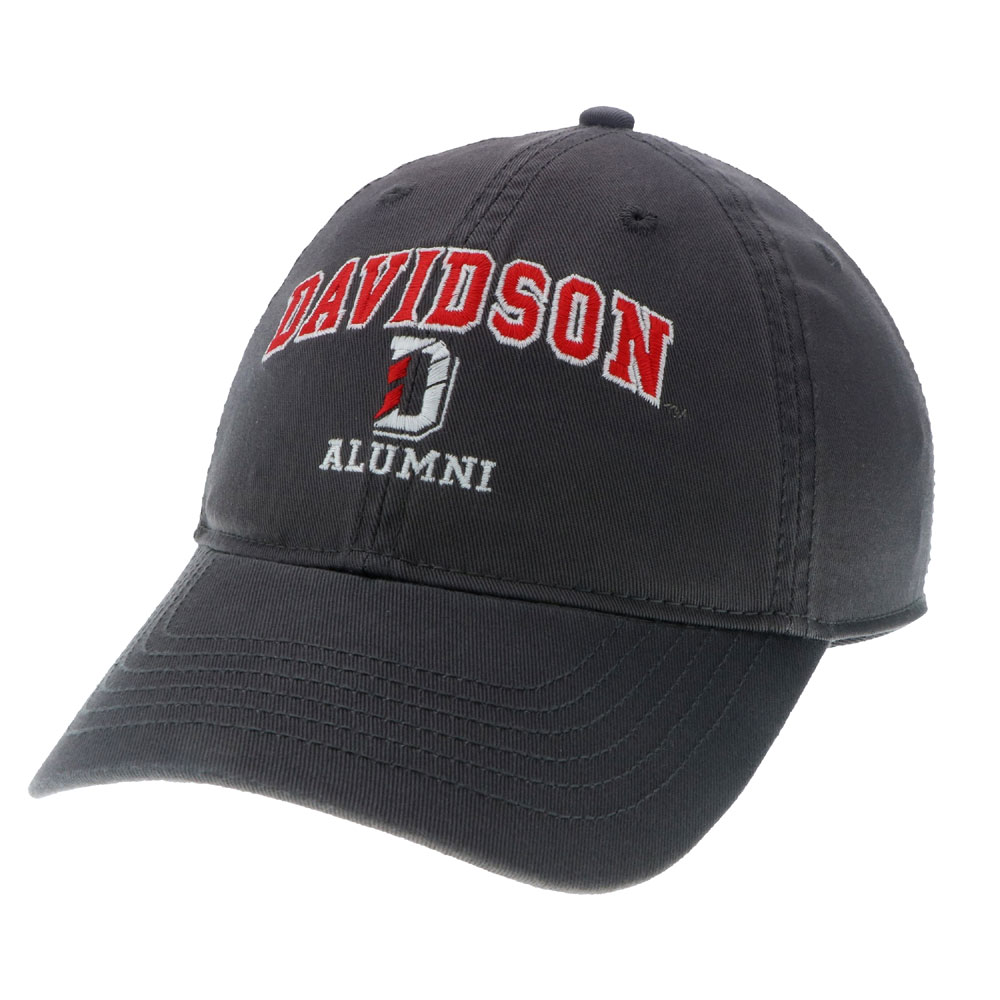 Image For hat relaxed twill dark grey davidson alumni