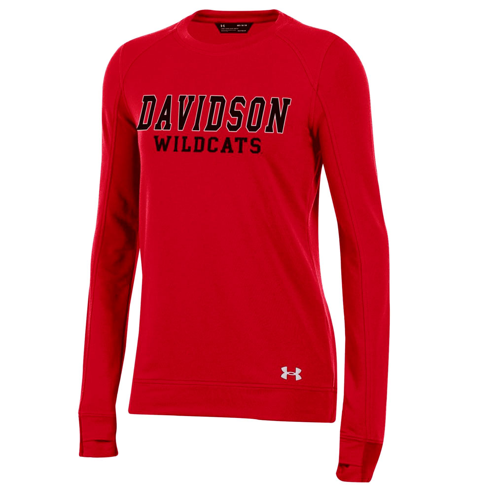Image For Women's Tech Fleece Crew - Red - Davidson Over Wildcats
