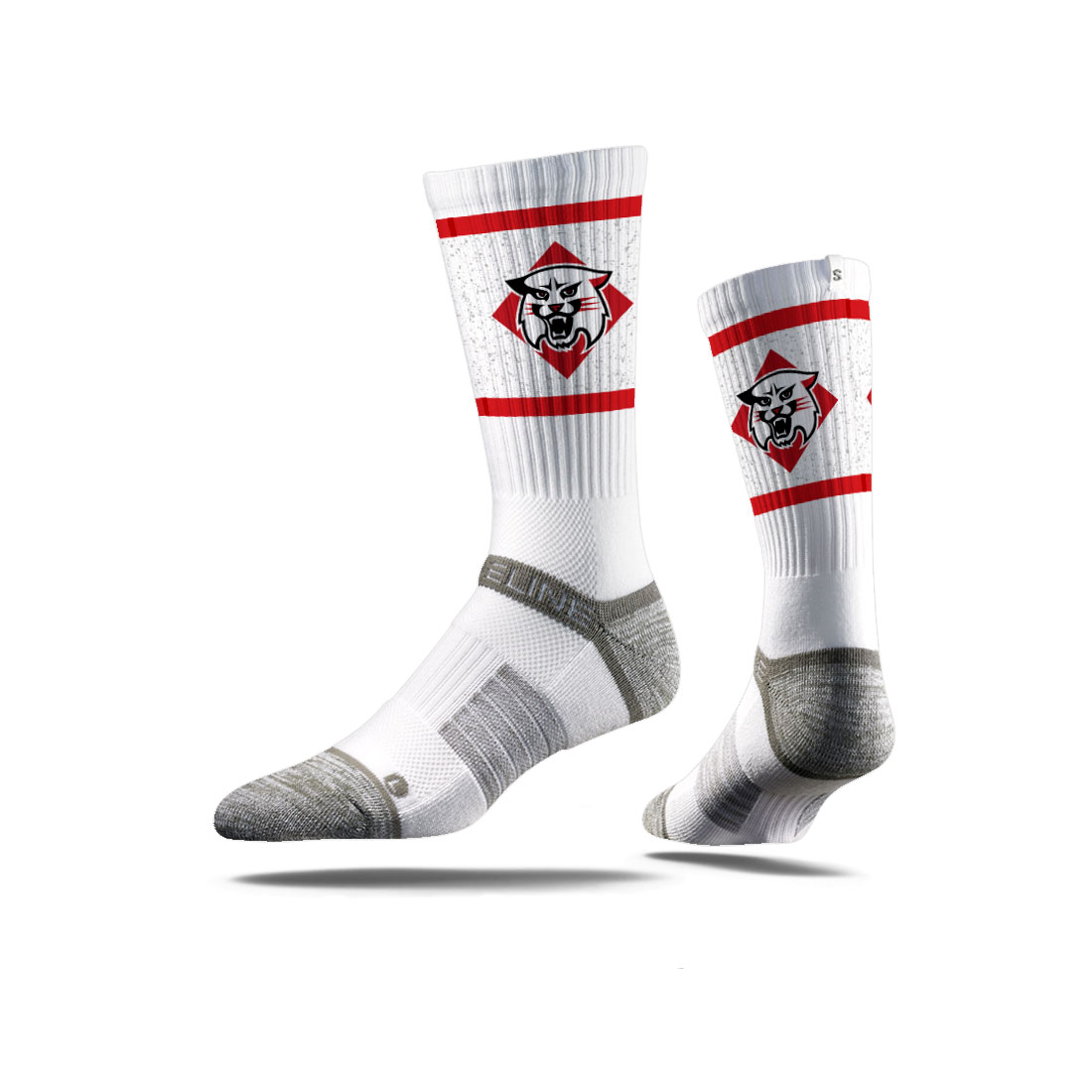 Image For socks - white - wildcat logo