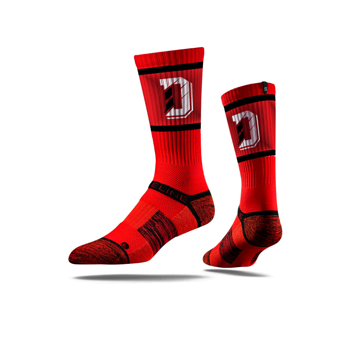 Image For Socks - Red - D Logo