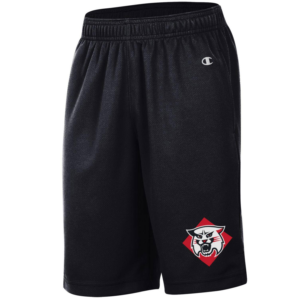 Image For YOUTH MESH SHORTS - BLACK - WILDCAT