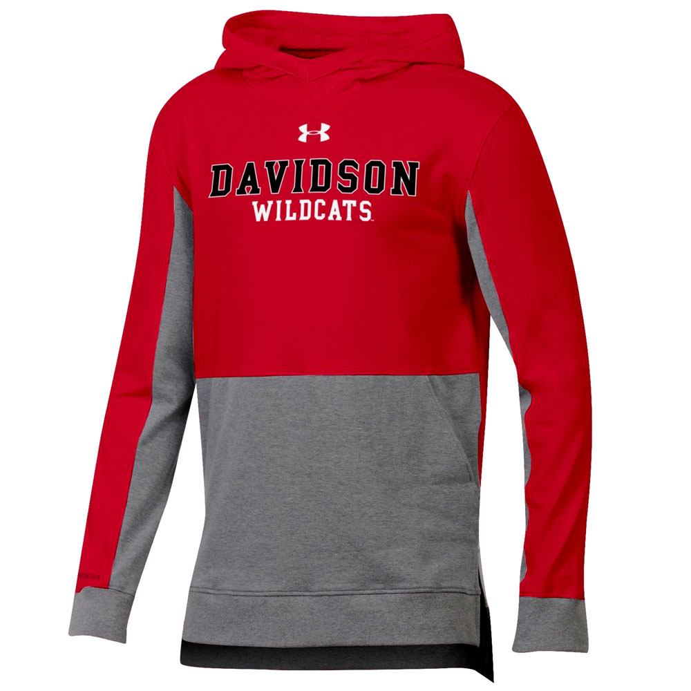 Cover Image For Youth Colorblock Hood - Red - Davidson Wildcats