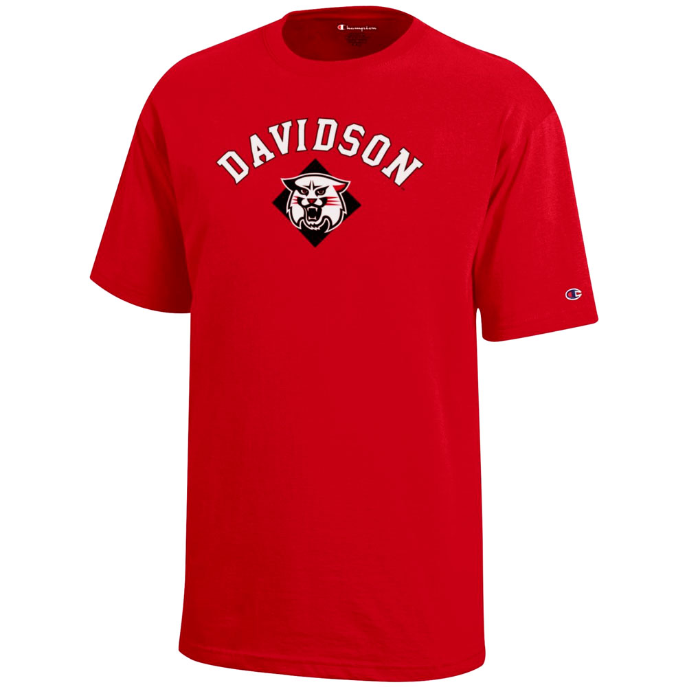 Image For Youth T Shirt - Red - Davidson Over Wildcat