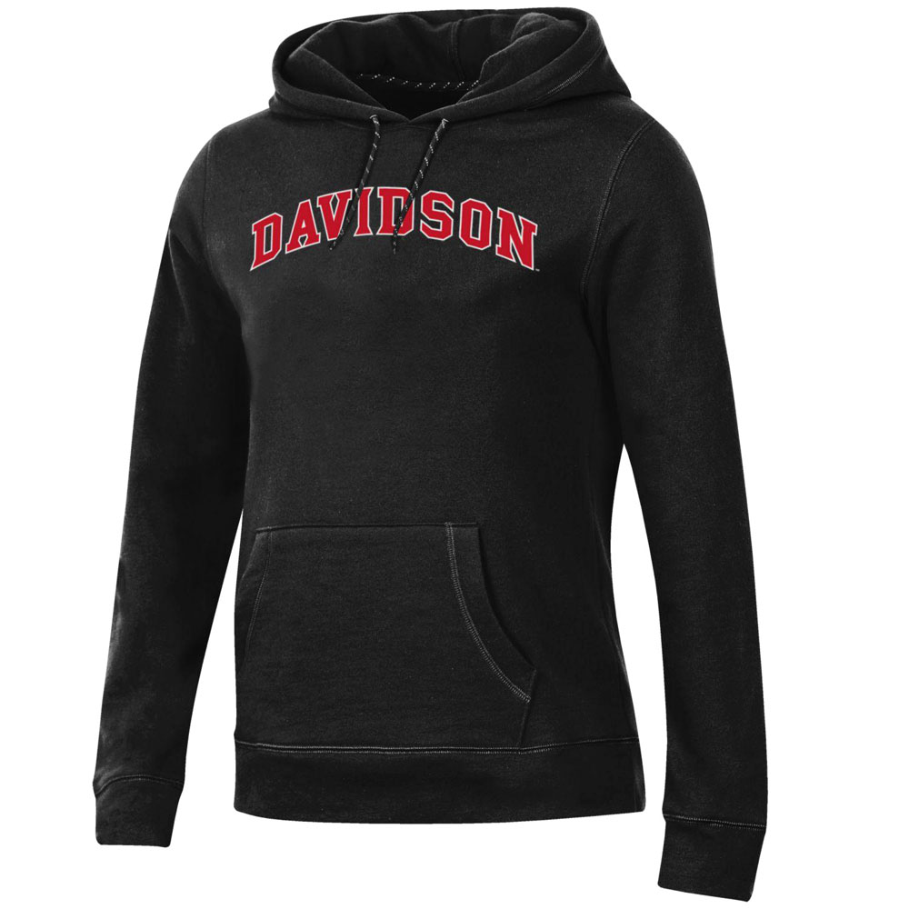 Image For Women's Fleece Pullover Hood - Black - Davidson Arched