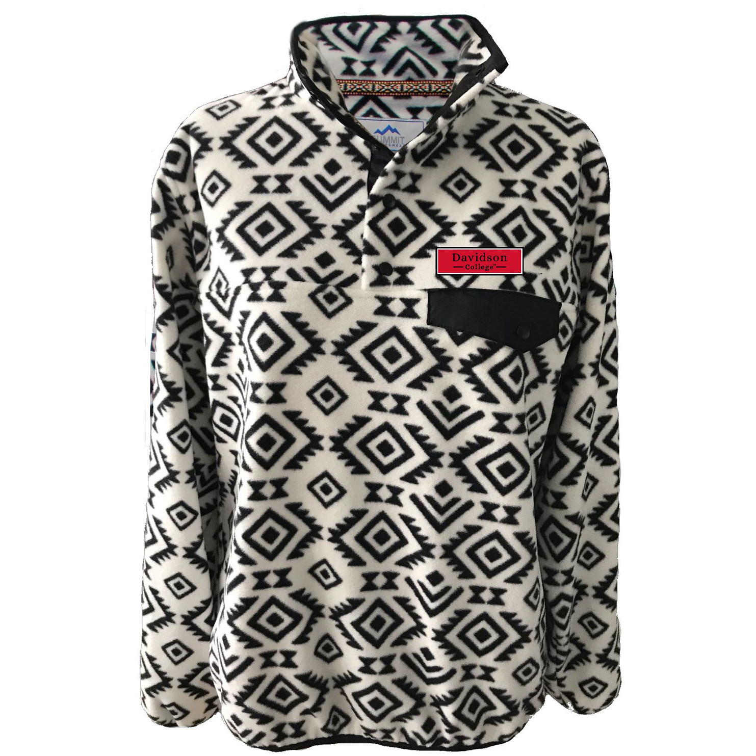 Image For Women's Jacket Patterned Fleece - Tribal - Davidson Patch