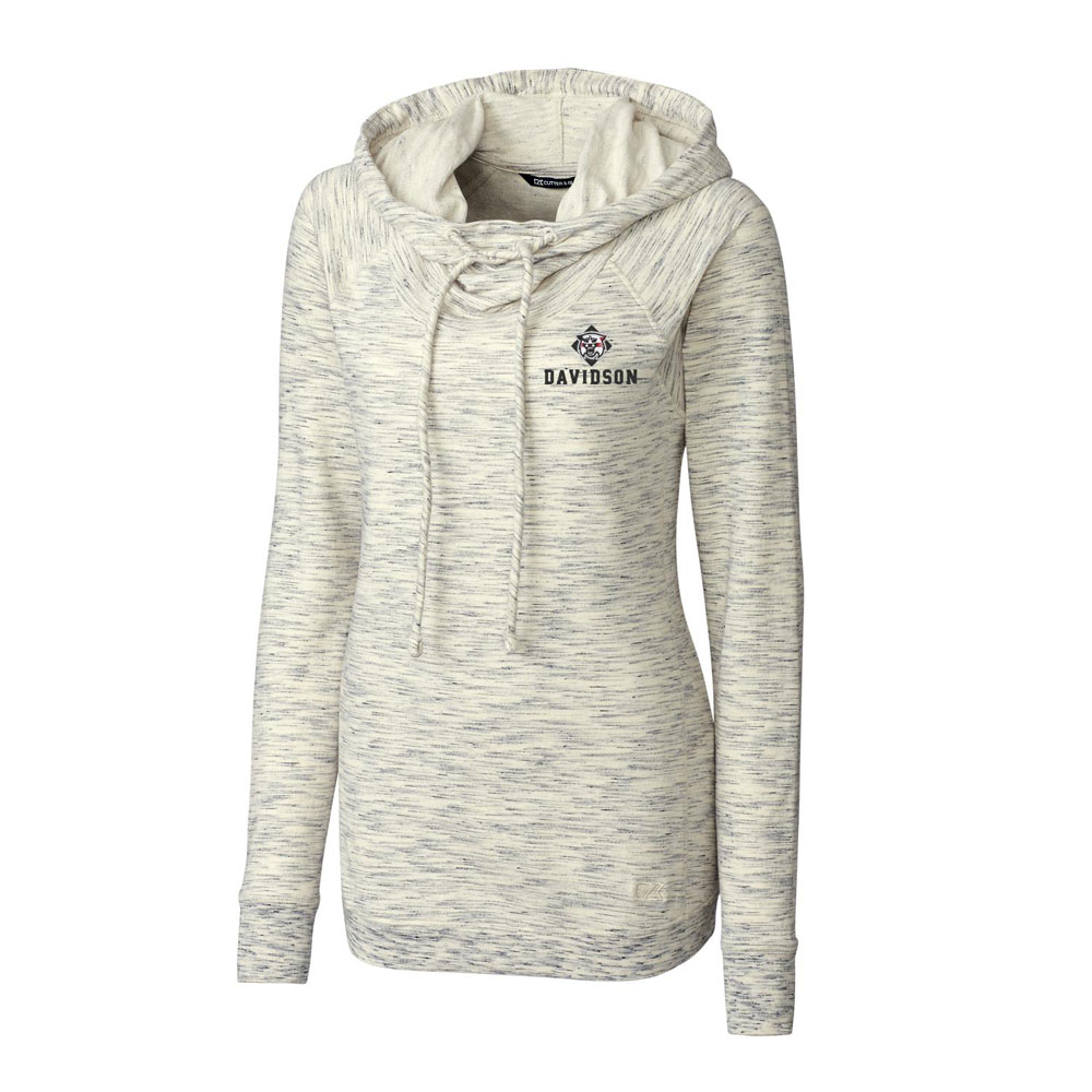 Image For Women's Tie Braker Hoodie - Snow - Wildcat Over Davidson