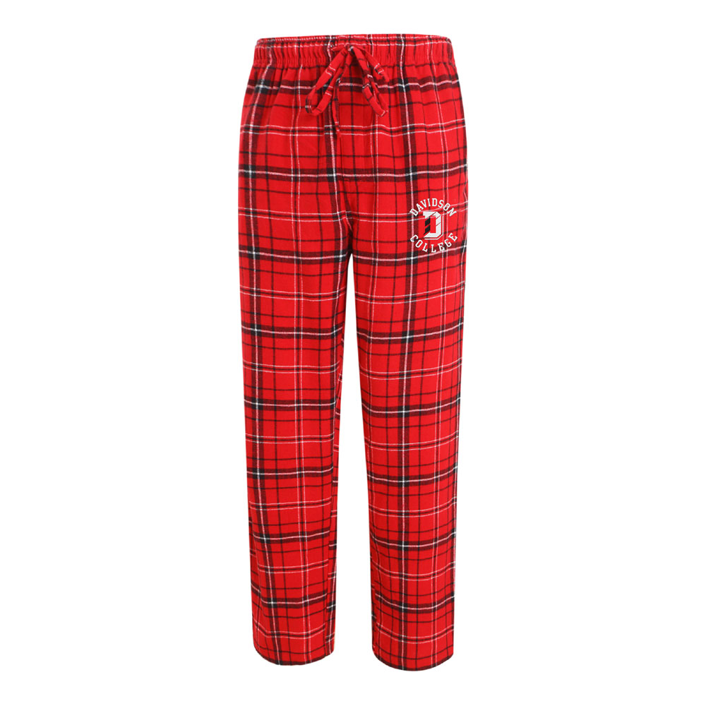Image For Pants Flannel - Red - Davidson Over D Over College