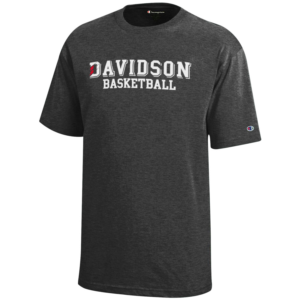 Cover Image For Youth T Shirt - Granite Heather - Davidson Basketball