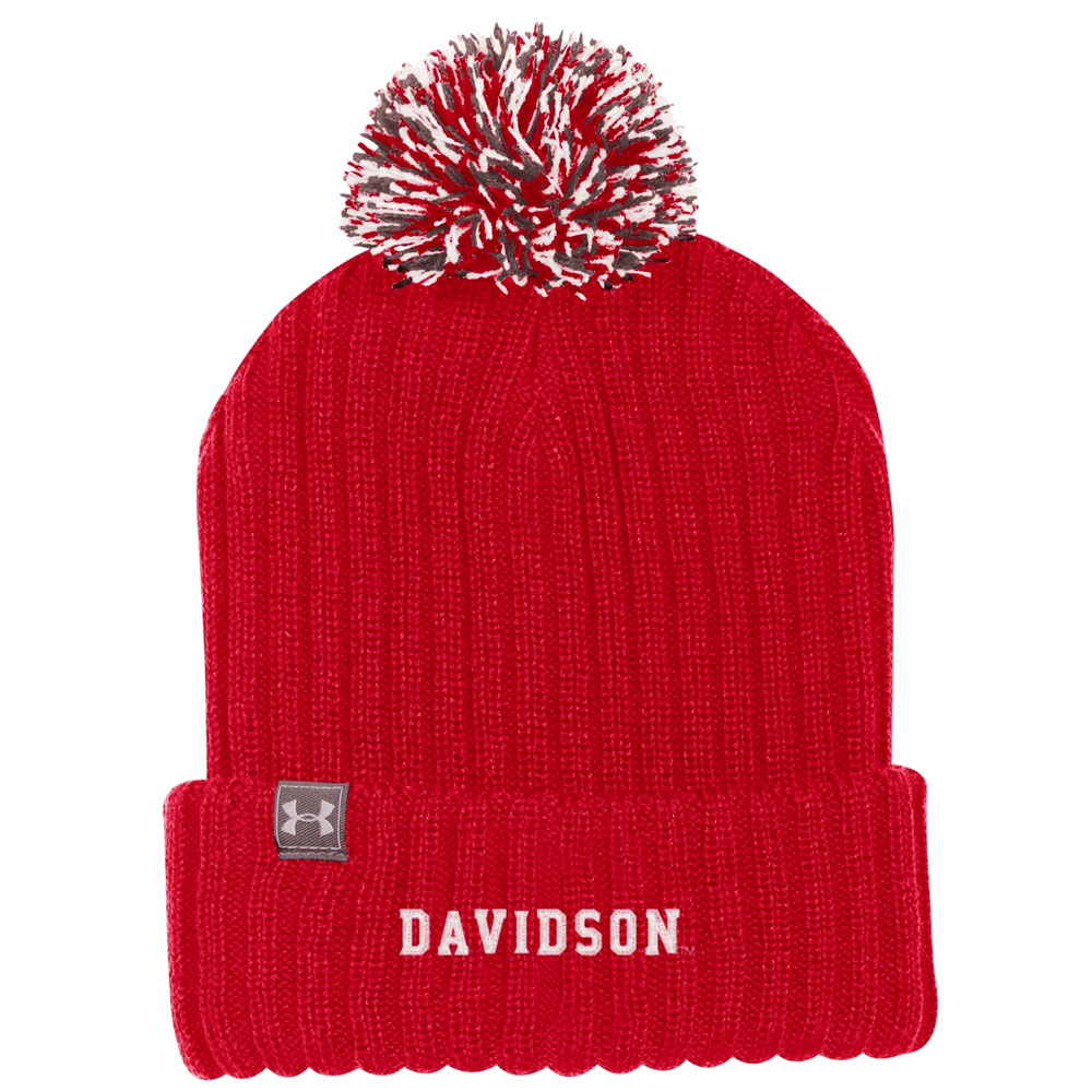Image For Hat Knit Beanie - Red - Davidson