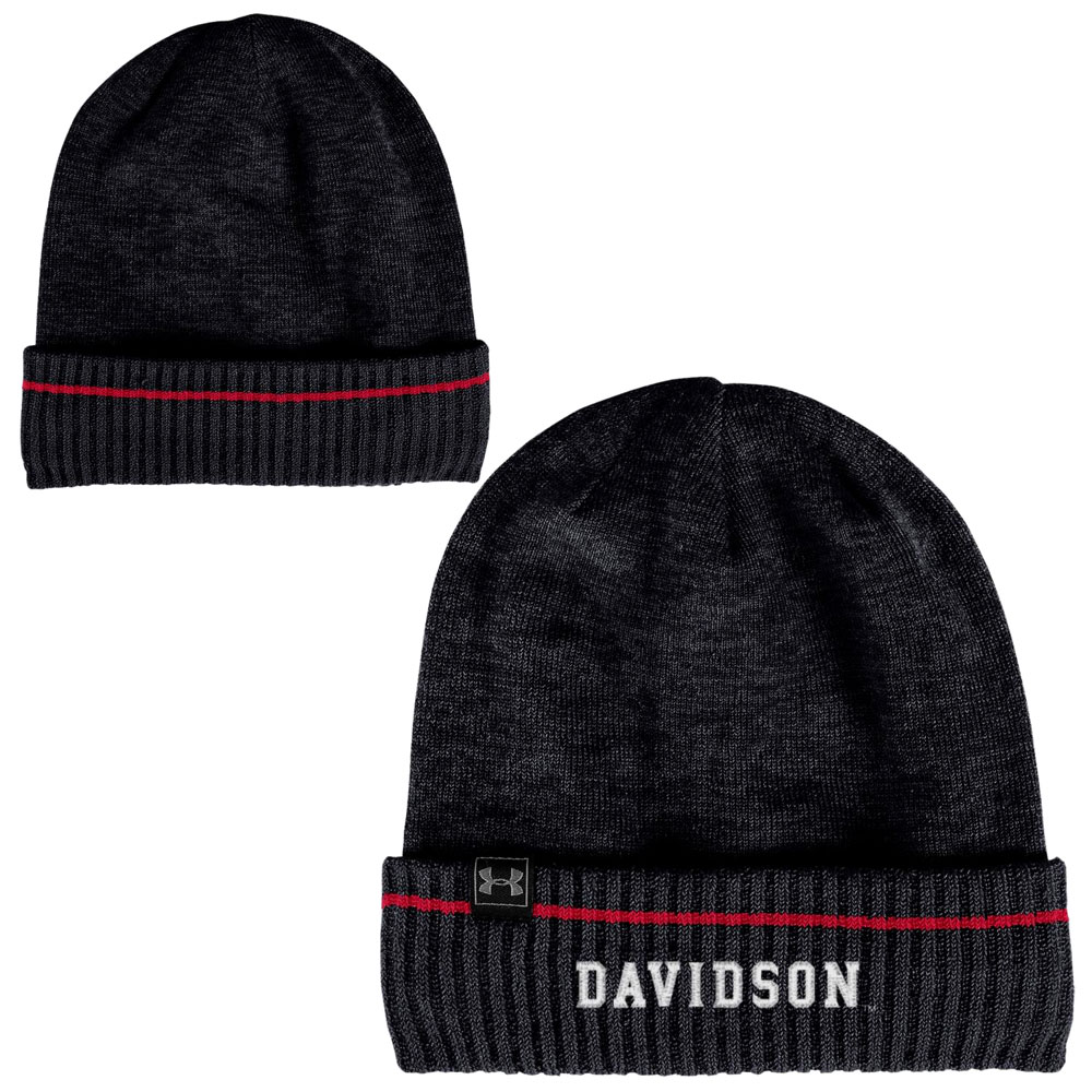 Image For Hat Knit Sideline Cuffed Beanie - Black - Davidson