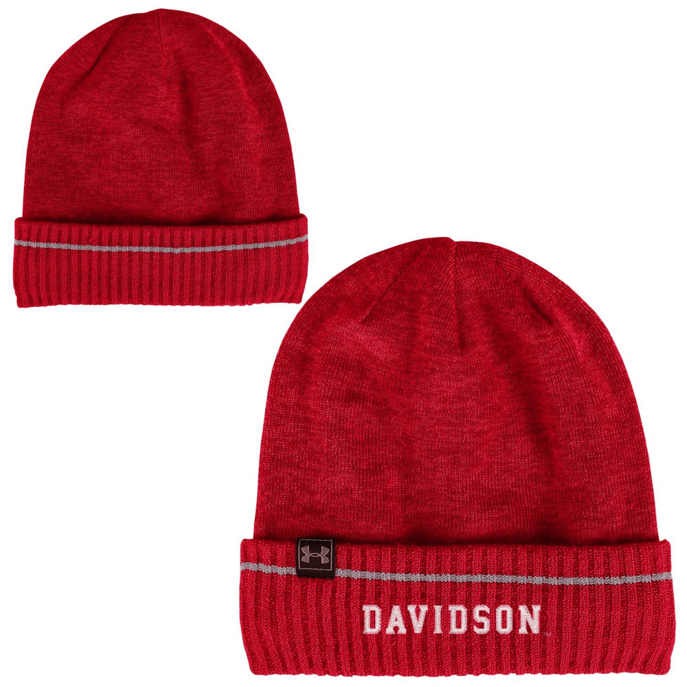 Image For Hat Knit Slideline Cuffed Beanie - Red - Davidson