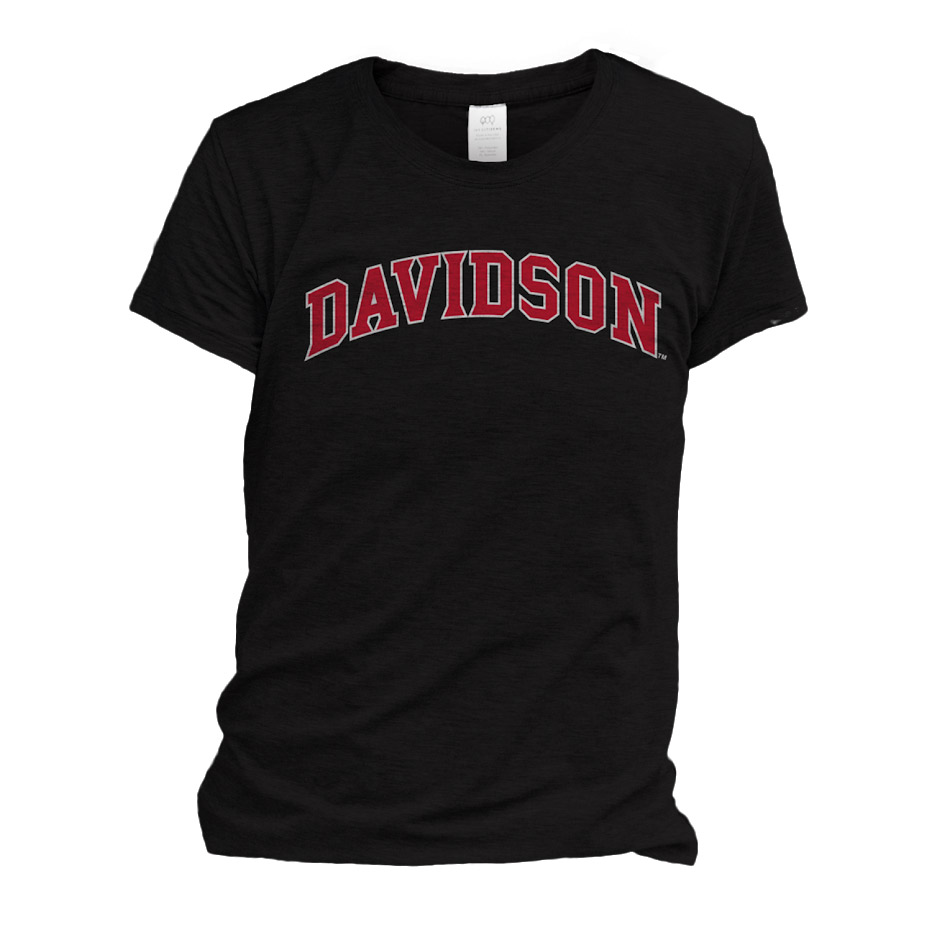 Image For WOMEN'S TEE - BLACK - DAVIDSON ARCHED