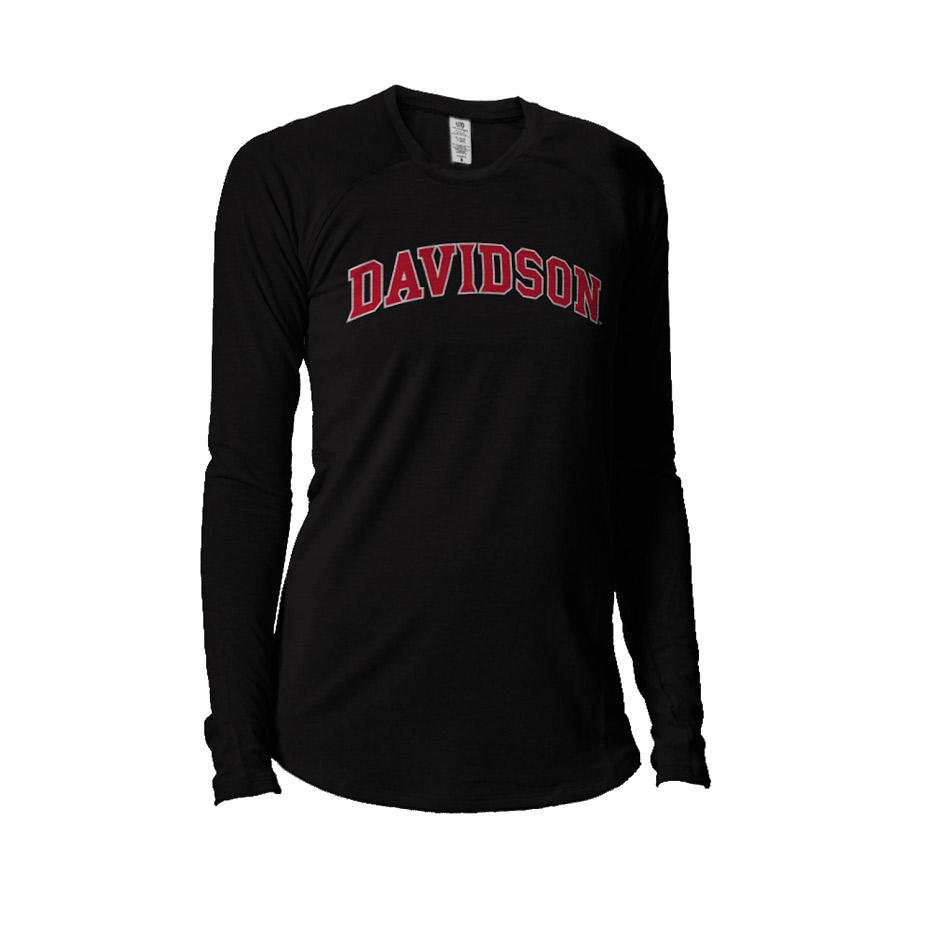 Image For WOMEN'S LONG SLEEVE TEE - BLACK - DAVIDSON ARCHED