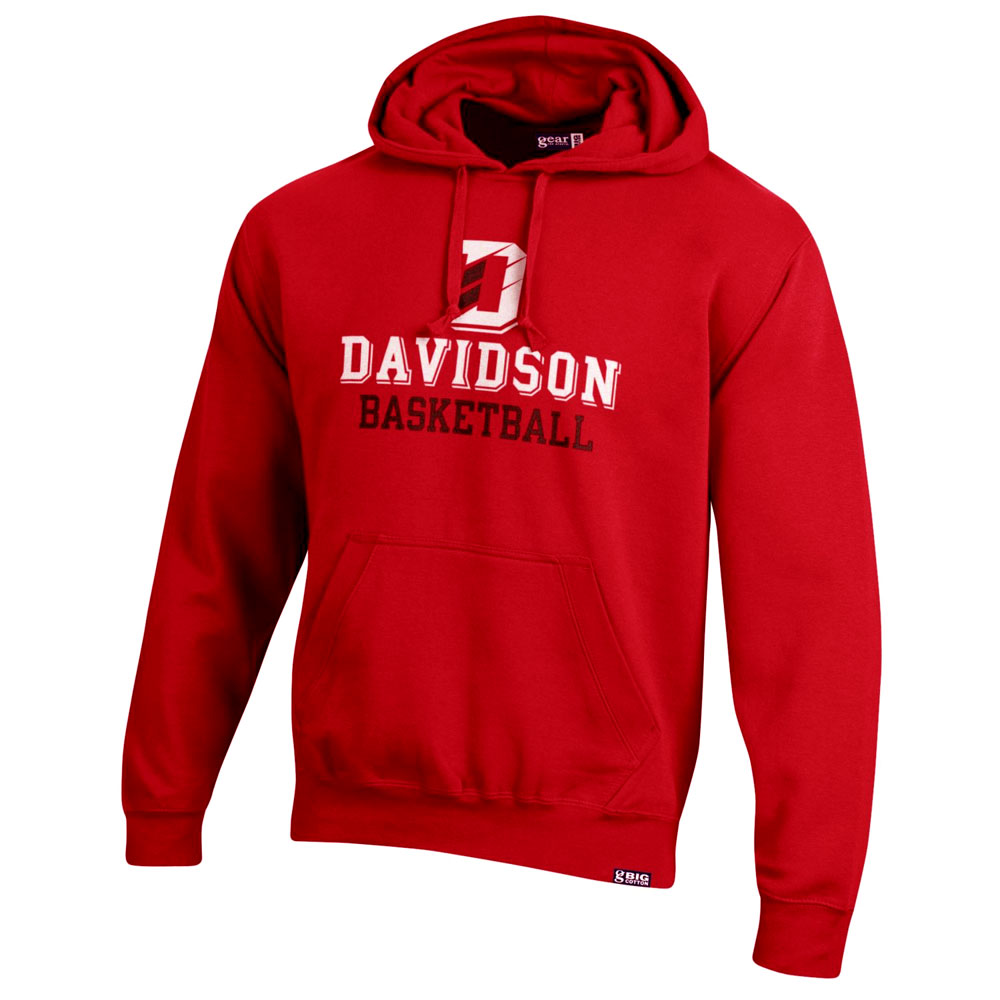 Cover Image For Sweatshirt Hood - Red - Davidson Basketball