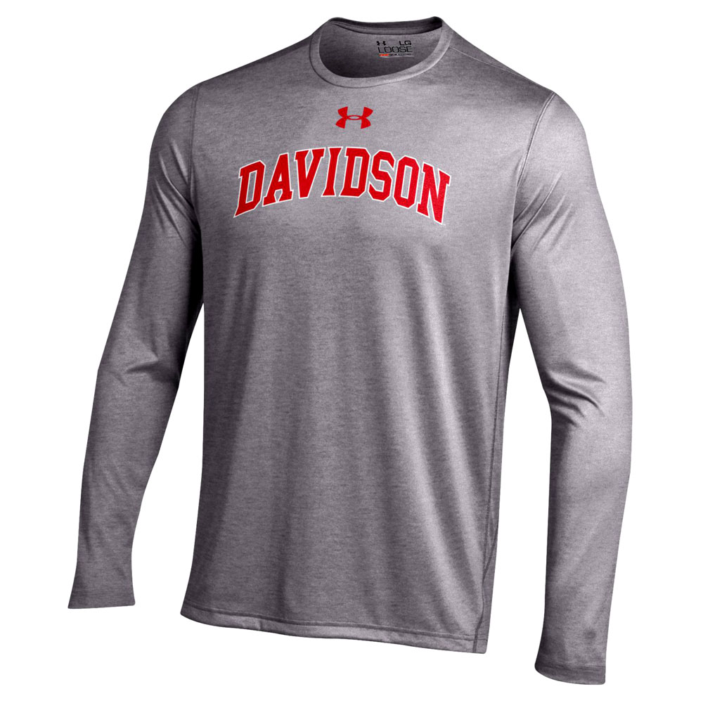 Image For Long Sleeve Tech Tee - Grey - Davidson Arched