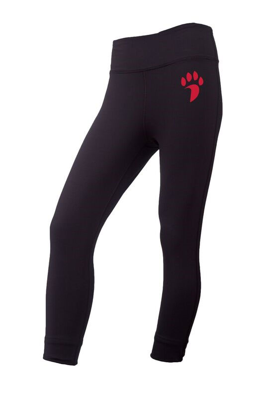 Image For Women's Leggings - Black - Paw Logo