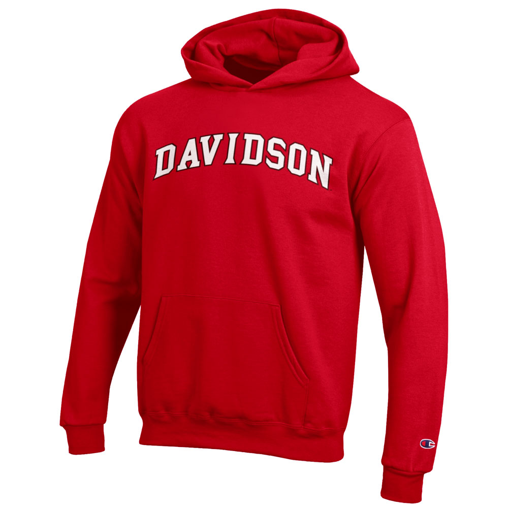 Image For Youth Powerblend Hood - Red - Davidson Arched