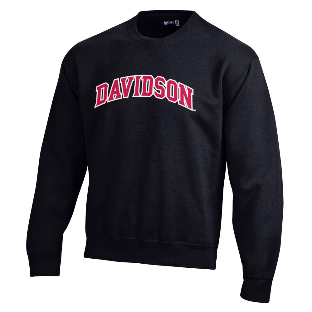 Image For Sweatshirt Crew - Black - Davidson Applique