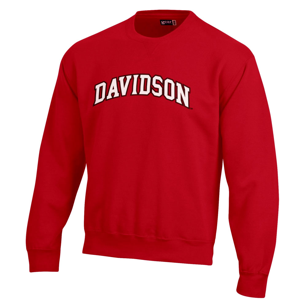 Image For Sweatshirt Crew - Red - Davidson Applique