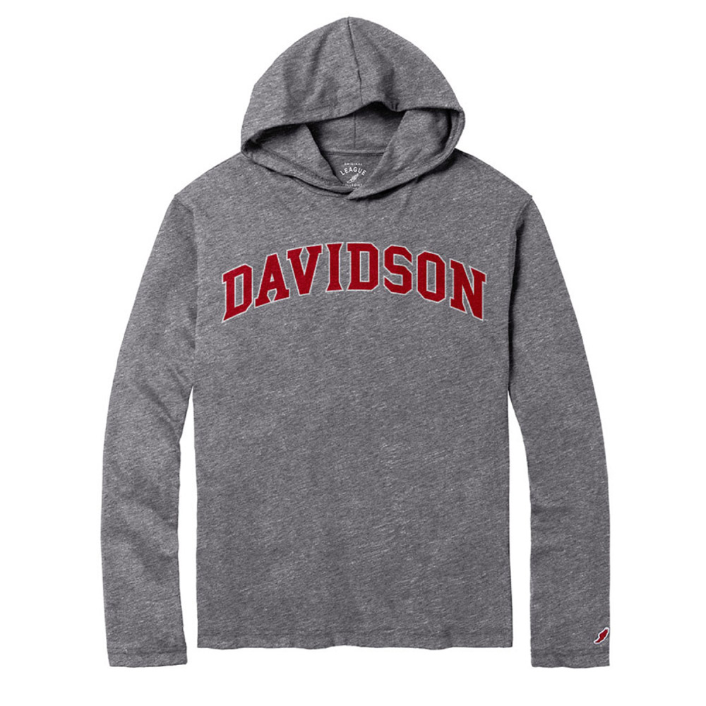 Image For Long Sleeve Tee With Hood - Davidson Arched