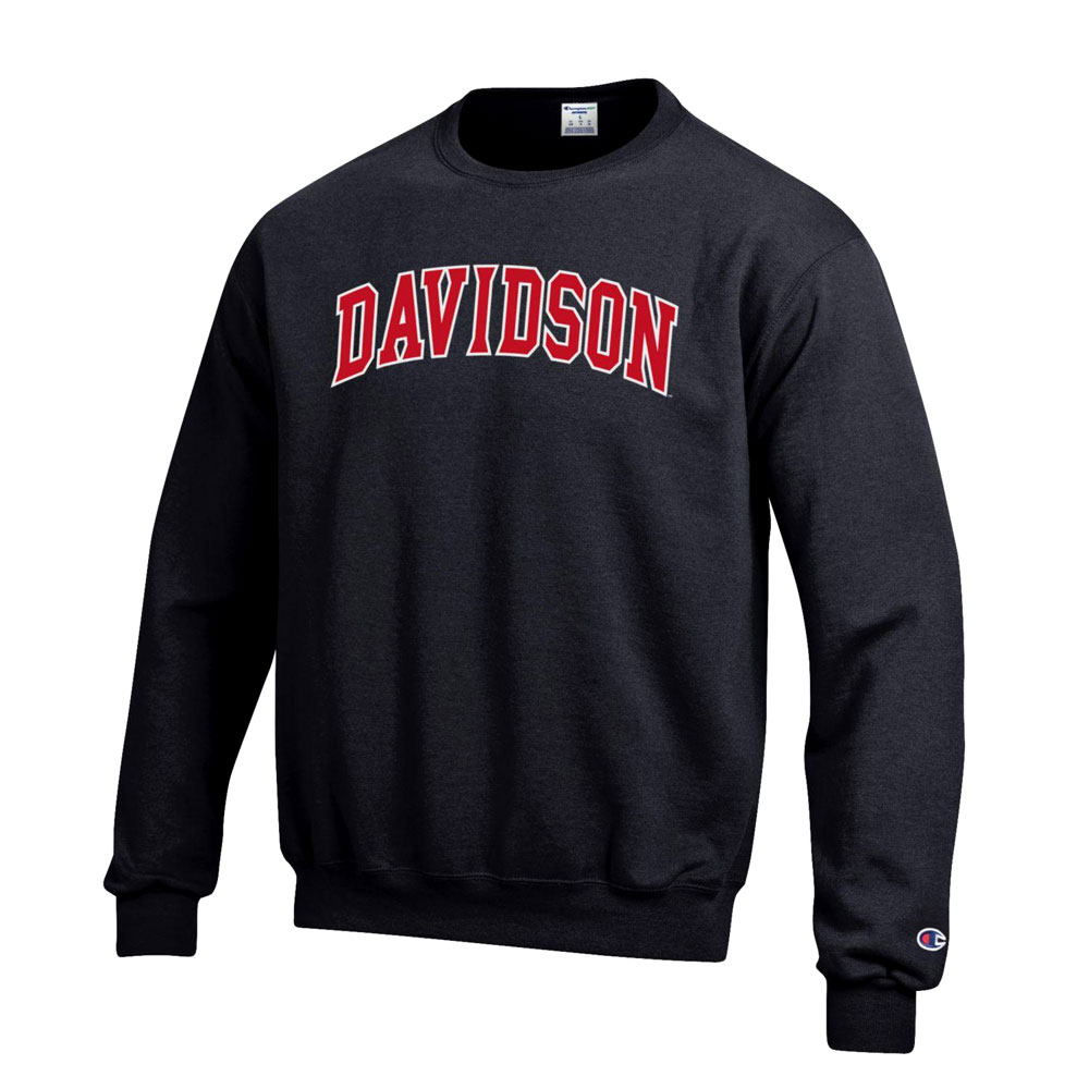 Image For Sweatshirt Crew - Black - Davidson Arched