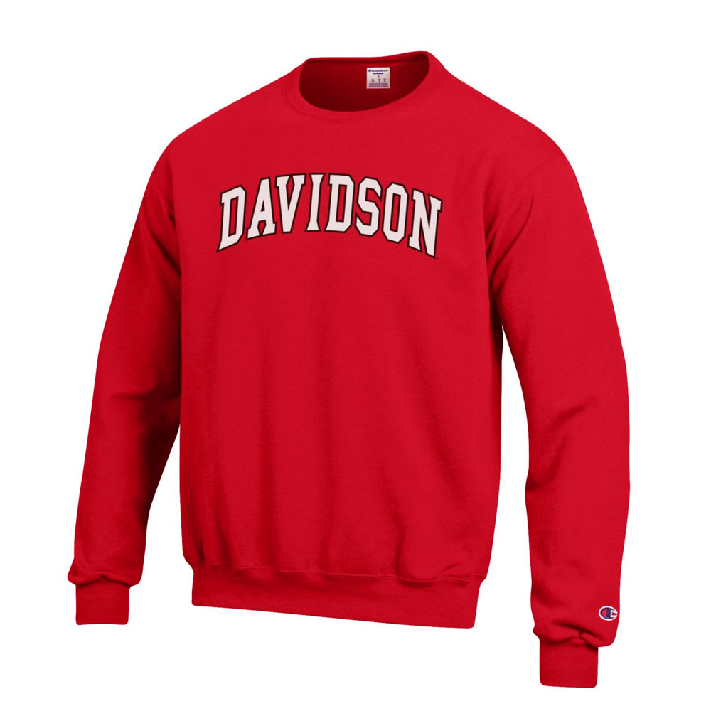 Image For Sweatshirt Crew - Red - Davidson Arched