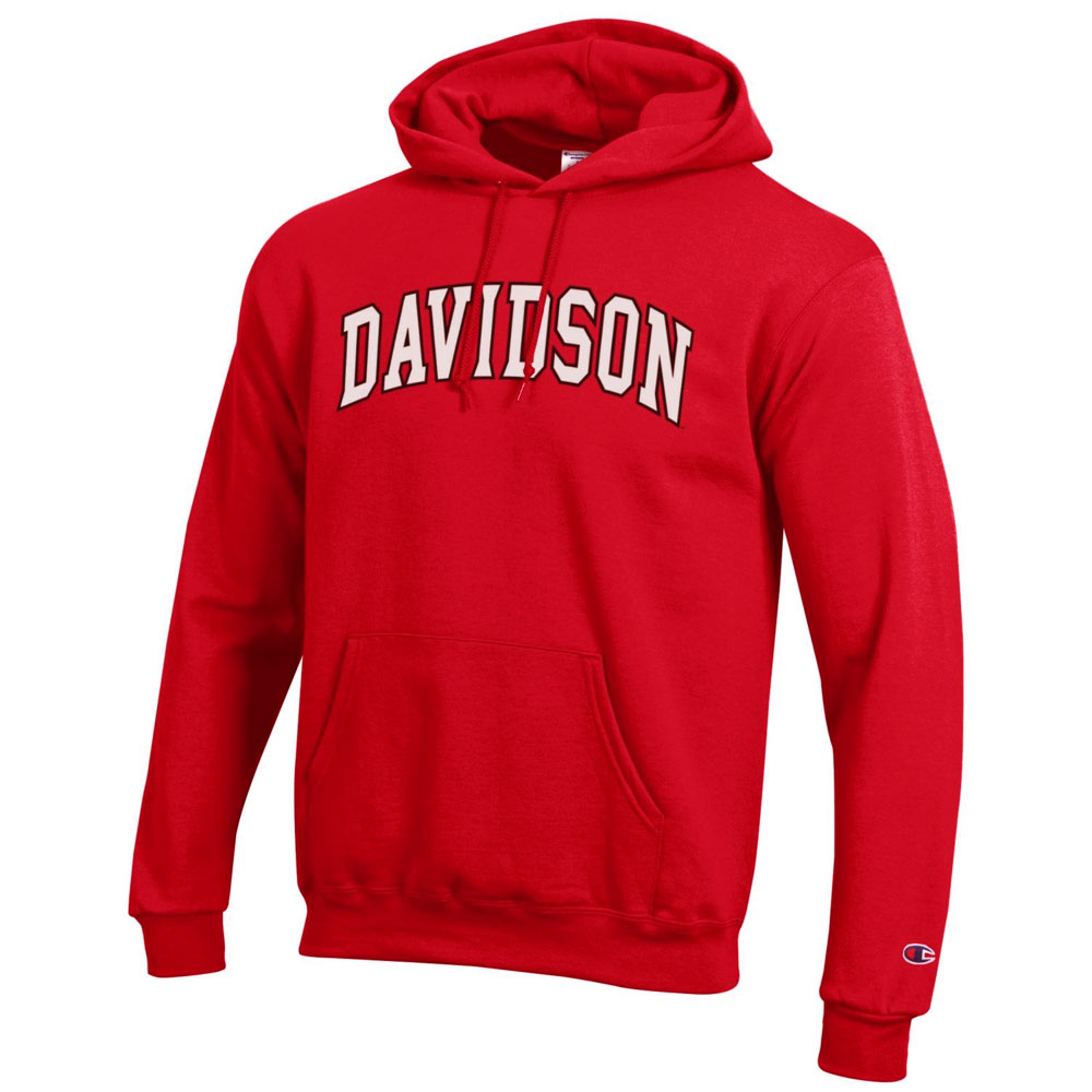 Image For Sweatshirt Hood - Red - Davidson Arched