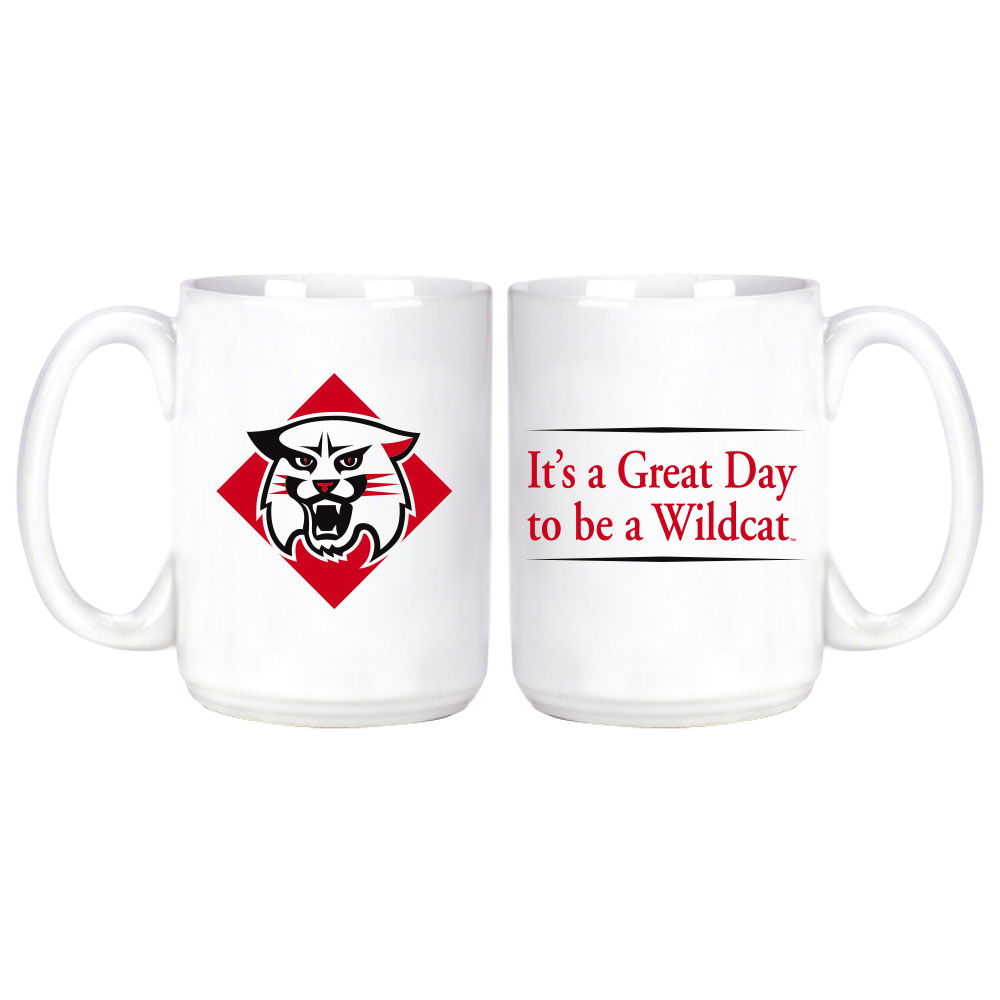 Image For Mug - White - It's A Great Day To Be A Wildcat