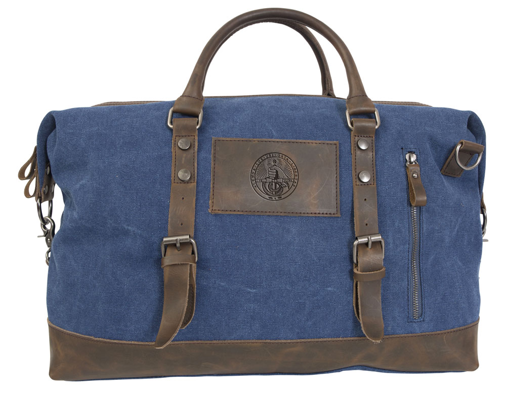 Image For Duffel Bag - Blue - College Seal Logo