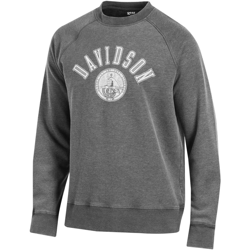 Image For Sweatshirt Crew - Washed Charcoal - Davidson Over Seal