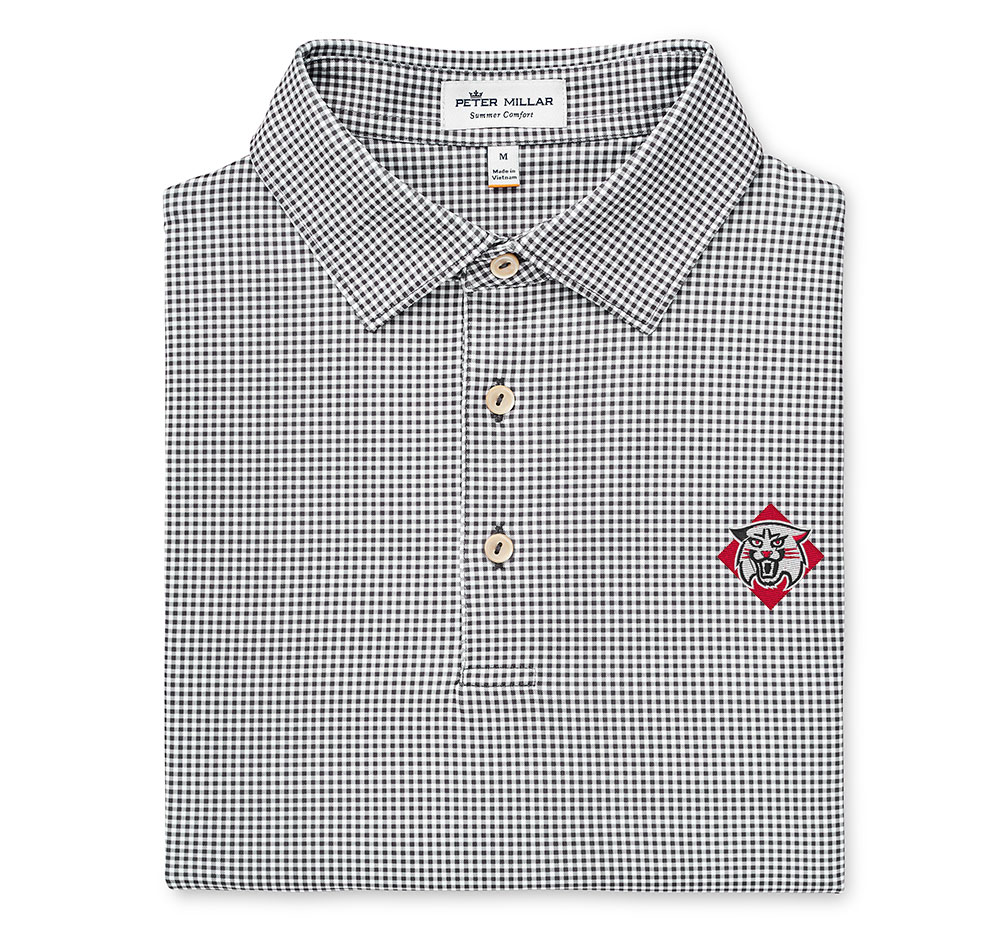 Image For Polo - Black/White Gingham Stretch - Wildcat