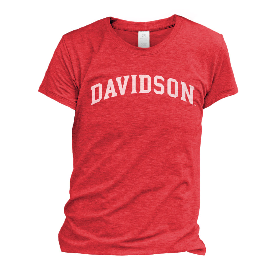 Image For WOMEN'S TEE - VINTAGE RED - DAVIDSON ARCHED