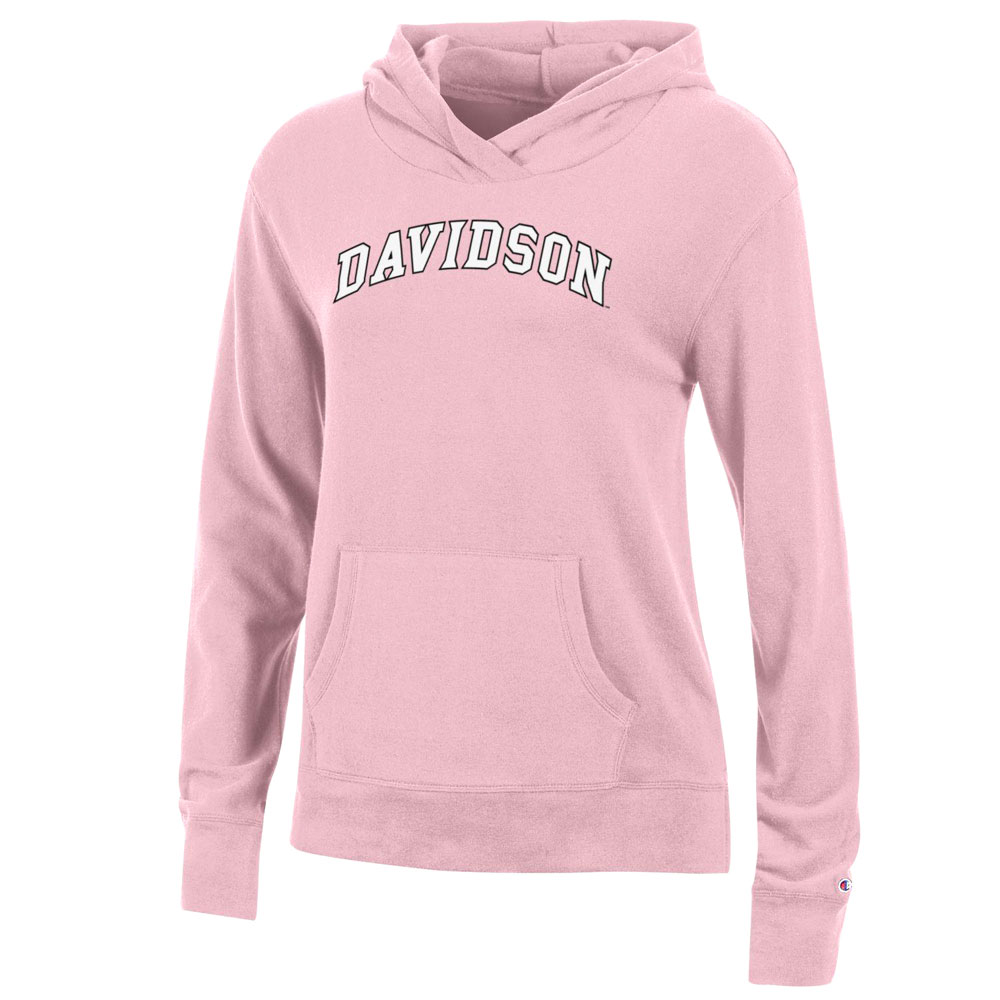 Image For Women's Fleece Hood - Feather Pink - Davidson Ached