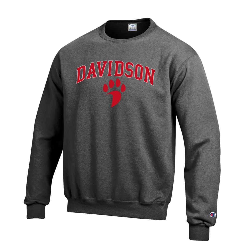 Image For Sweatshirt Crew - Granite Heather - Davidson Over Paw