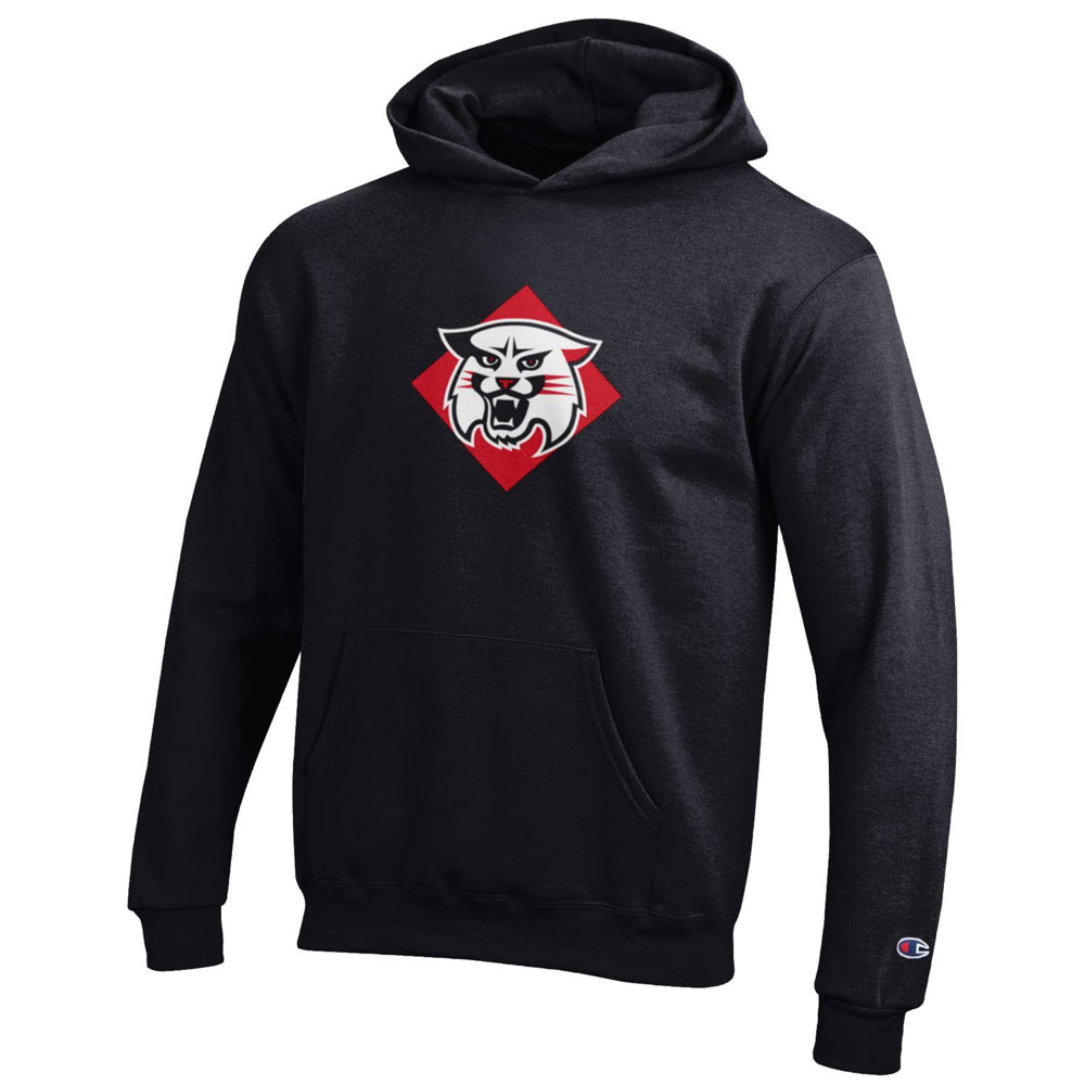 Image For Youth Powerblend Hood - Black - Wildcat