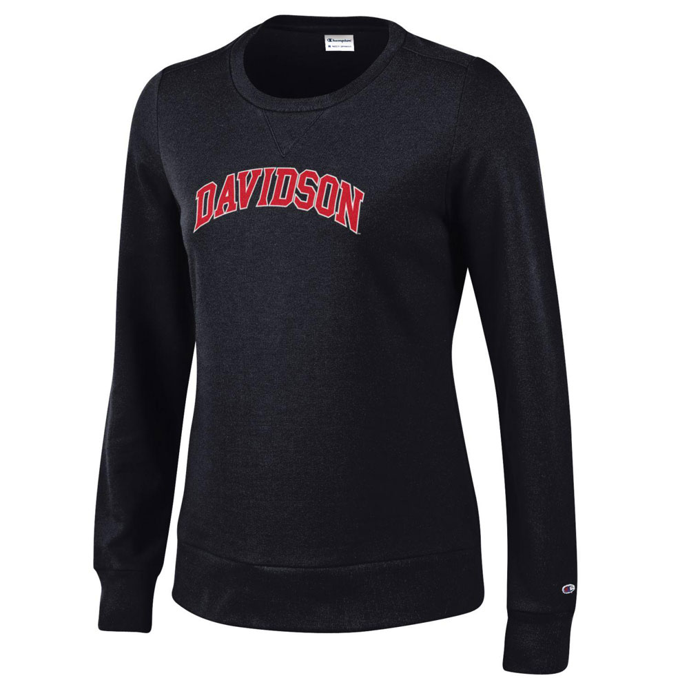 Image For WOMEN'S FLEECE CREW - BLACK - DAVIDSON ARCHED