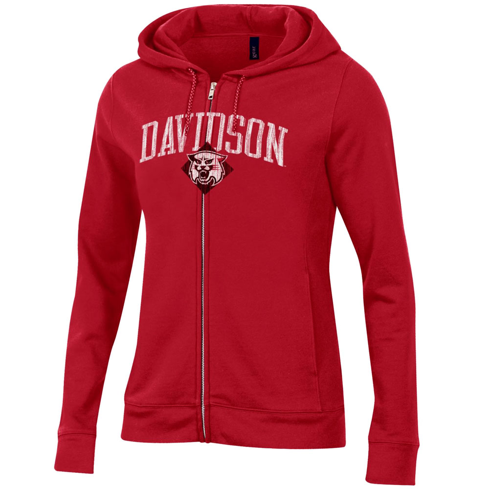 Image For Women's Full Zip Jacket With Hood - Red
