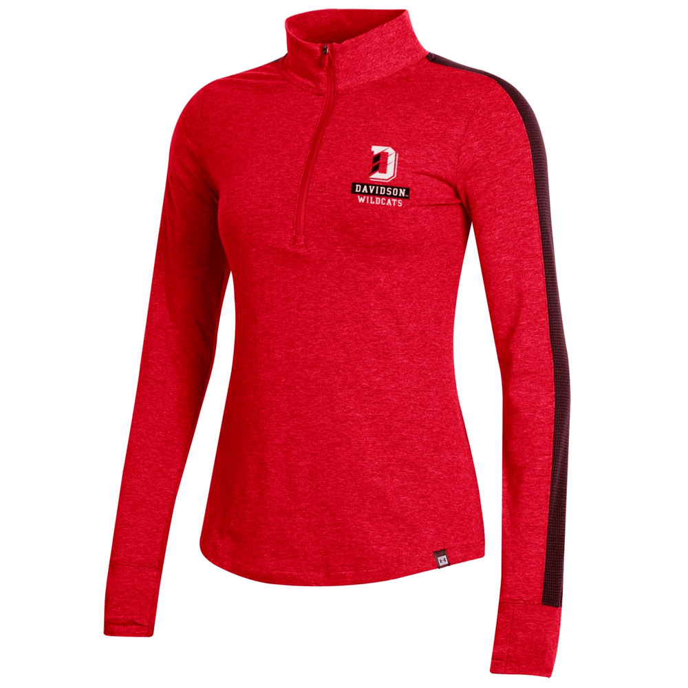 Image For Women's Ascend Charged Cotton 1/4 Zip - Red